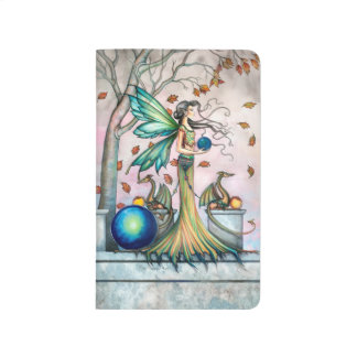 Fairy Dragon Autumn Leaves Fantasy Art Journal