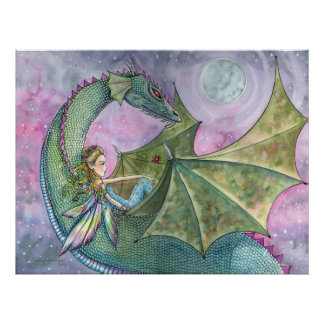 Fairy Dragon Poster Print by Molly Harrison