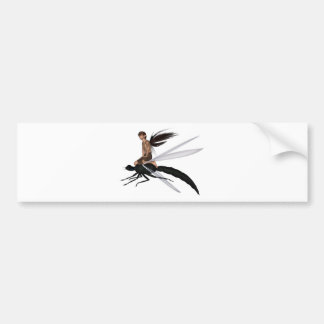 Fairy Dragonfly Rider Bumper Sticker