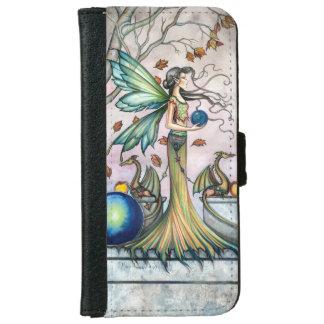 Fairy Dragons Fantasy Art Illustration iPhone 6 Wallet Case