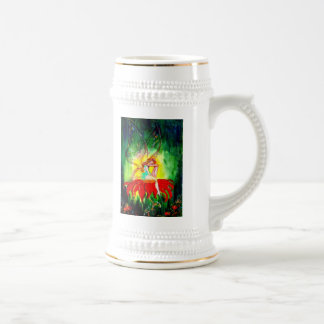 FAIRY DREAMING ON THE FLOWER BEER STEINS