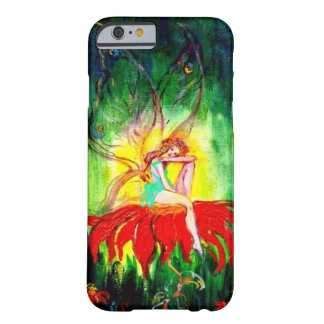 FAIRY DREAMING ON THE RED  FLOWER green yellow Barely There iPhone 6 Case