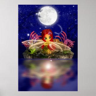 Fairy Dreams Fantasy Cartoon Fairy Print Cute