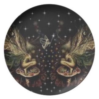 fairy dust dinner plates