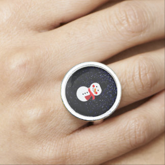 Fairy Dust/Snowman w/Red scarf Design Rings
