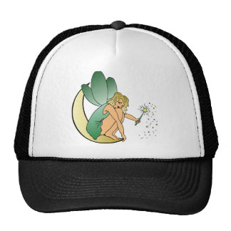 Fairy/Faerie/Pixie Girl on Crescent Moon with Wand Mesh Hats