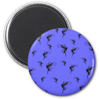 fairy, fairies, fairytale world 2 inch round magnet