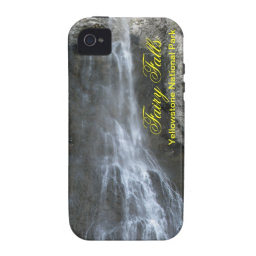 Fairy Falls in Yellowstone Vibe iPhone 4 Cases