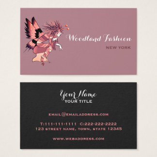 Fairy Fashion Makeup Artist Stylist Salon Modern Business Card