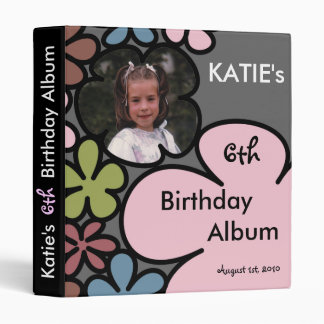 Fairy Flower Kids Birthday Album Vinyl Binder