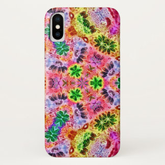 Fairy Flower Tracks Watercolor Mandala Case