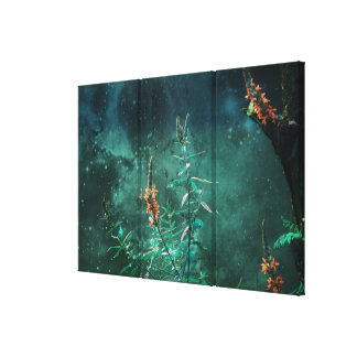 Fairy Flowers in the Jade Moonlight Canvas Print