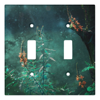 Fairy Flowers in the Jade Moonlight Light Switch Cover