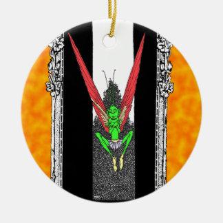 Fairy Folk Round Ceramic Ornament