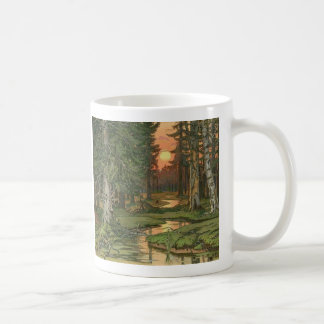 """Fairy Forest at Sunset"" by Ivan Bilibin, 1906. Coffee Mug"