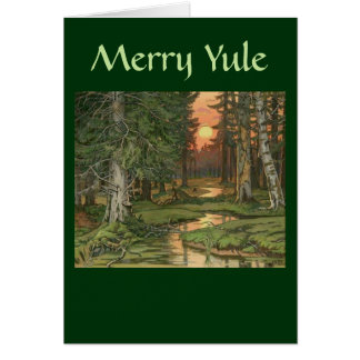 """""""Fairy Forest at Sunset"""" - Merry Yule card"""