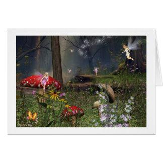 fairy forest card