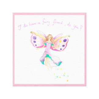 """Fairy Friend"" Kids Canvas Print 12"" x 12"""