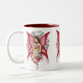 Fairy Friends mug with ginger cat