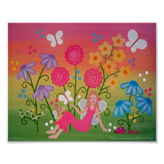 Fairy Garden - 8x10 Mother Daughter Girls Kids Art Poster