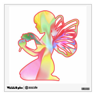Fairy Girl With a Flower Wall Sticker