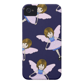 Fairy Girl with Wings, Random Pattern, Art iPhone 4 Cover
