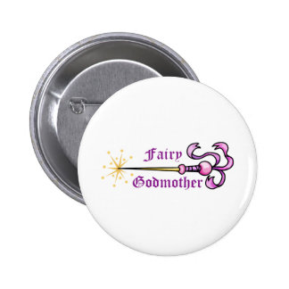 FAIRY GODMOTHER 2 INCH ROUND BUTTON