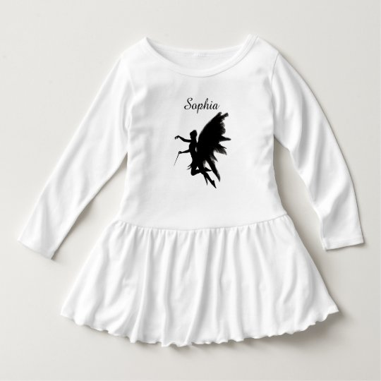 Fairy Godmother Black and White Toddler's Dress