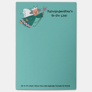 Fairy Godmother To-Do List Post-it® Notes 4 x 6