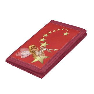 Fairy Gold Star TriFold Nylon Wallet