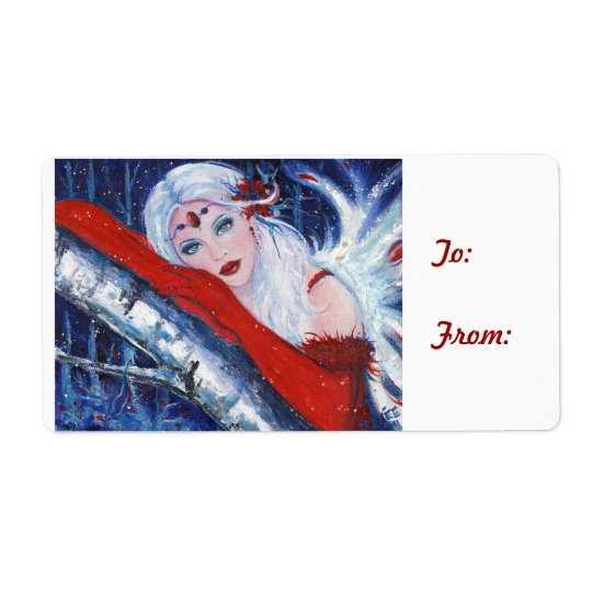 Fairy holiday christmas gift labels By Renee