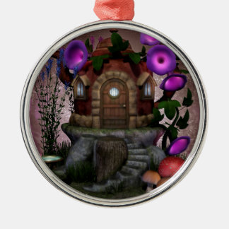 Fairy House Deco Metal Ornament