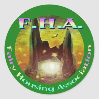 Fairy Housing Association Classic Round Sticker