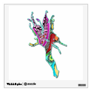 Fairy Hovering Above Colorful Wall Decal