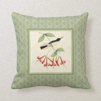 Fairy Hummingbird Damask Pillow