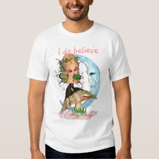 fairy, I do believe, little Girls Black Tee, Cute Tee Shirt