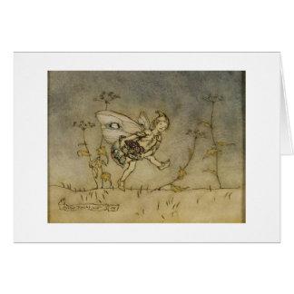 Fairy, illustration from 'A Midsummer Night's Drea Card