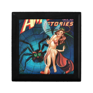 Fairy in a Spider Weg Keepsake Box