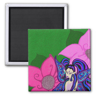 Fairy In The Flowers Magnet