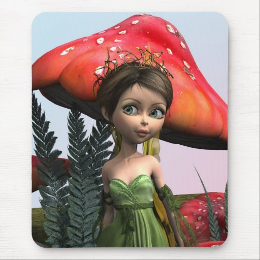 Fairy in Woodland Mousepads