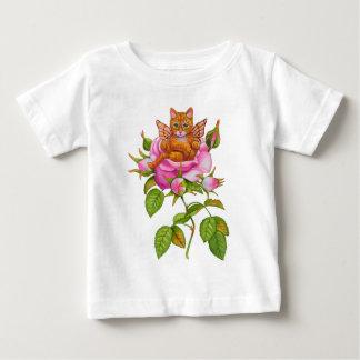 Fairy Kitten Resting in Rose Baby T-Shirt