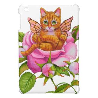 Fairy Kitten Resting in Rose iPad Mini Cover
