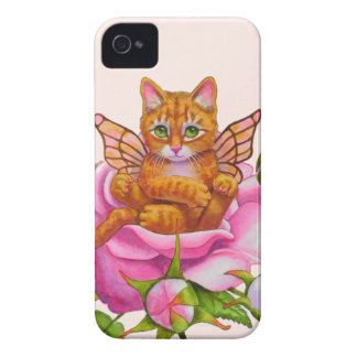 Fairy Kitten Resting in Rose iPhone 4 Cover