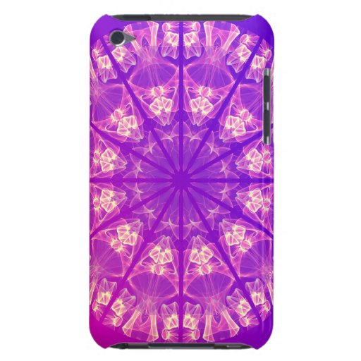 Fairy Lace Mandala Delicate Abstract Cream Violet iPod Touch Case