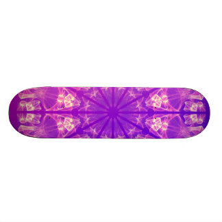 Fairy Lace Mandala Delicate Abstract Cream Violet Skateboards