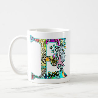 Fairy Letter E with Personalized Name Coffee Mug