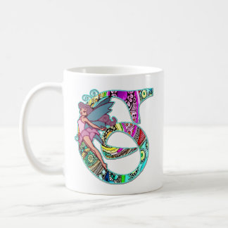 Fairy Letter G with Personalized Name Coffee Mug