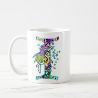 Fairy Letter I with personalized name Coffee Mug
