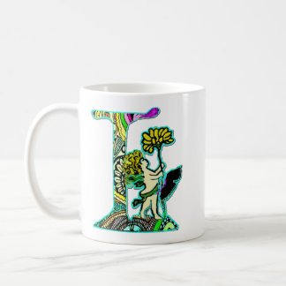 Fairy Letter L with personalized name Coffee Mug