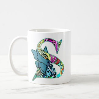 Fairy Letter S with personalized name Coffee Mug